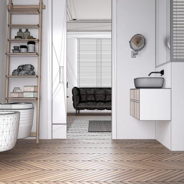 Grafický návrh kúpeľne (online) Bratislava Interiér Snov