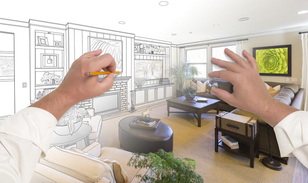 Interiérový dizajn obývačky (návrh obývačky) Interiér Snov