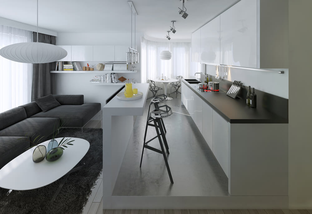 Návrh kuchyne s obývačkou Bratislava Interiér Snov